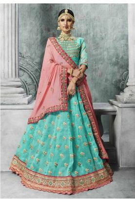 Turquoise Color Lehenga Choli for Bridesmaid