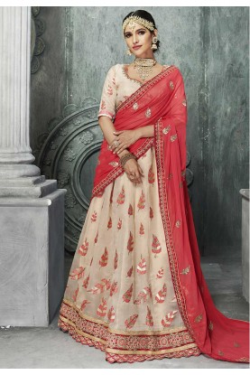 Beige Color Bridesmaid Lehenga Online