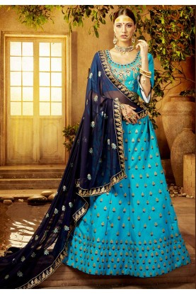 Blue Color Lehenga.