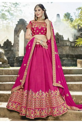 Pink Color Wedding Lehenga Choli.