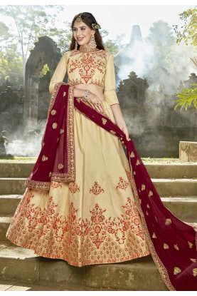 Golden Color Engagement Lehenga.