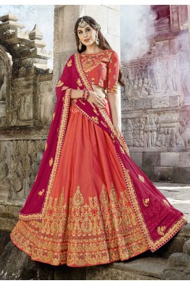 Orange Color Lehenga Choli.