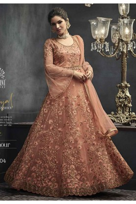 Peach Indian Designer Salwar Suit.