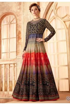 Blue,Purple Colour Designer Salwar Suit.