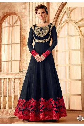 Black Party Wear Salwar Suit.