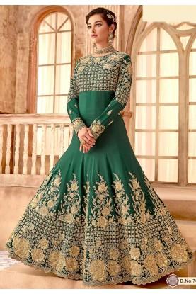 Green Designer Salwar Suit.