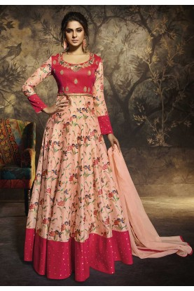 Peach,Pink Colour Bollywood Salwar Suit.