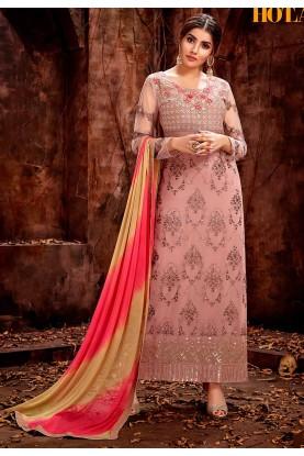 Exclusive Peach Colour Designer Salwar Suit.