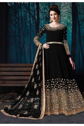 Black Colour Party Wear Salwar Kameez.