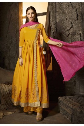Yellow Colour Designer Salwar Suit.