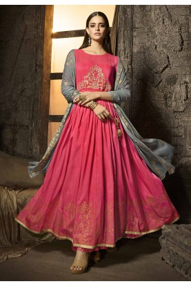 Exclusive Designer Palazzo Suit in Pink Colour