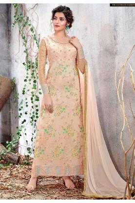 Peach Color Designer Salwar Suit.