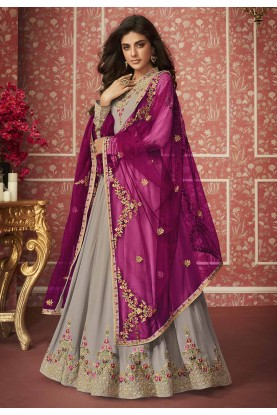 Beige Colour Georgette Salwar Suit.