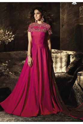 Red,Pink Colour Designer Salwar Suit.