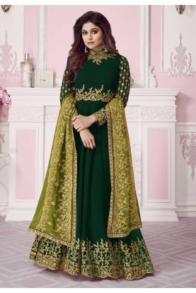 Green Colour Indian Designer Salwar Kameez.
