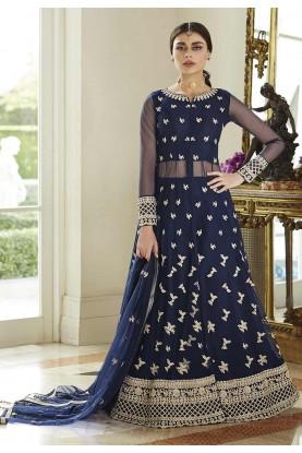 Blue Colour Designer Anarkali Salwar Suit.