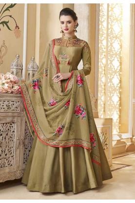 Brown Colour Party Wear Salwar Suit.