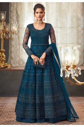 Blue Colour Designer Salwar Suit.