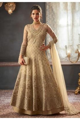 Exclusive Designer Salwar Suit Beige Colour.