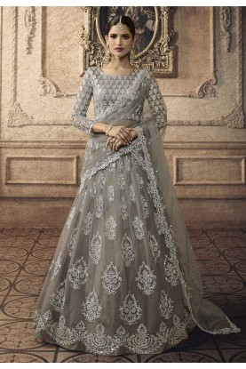 Beautiful Lehenga Choli Grey Colour.