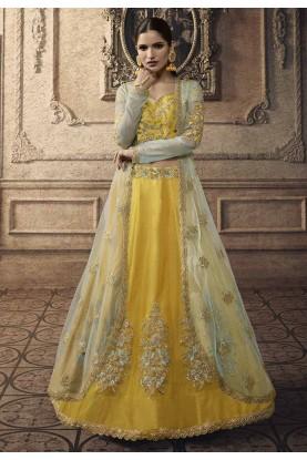 Exclusive Designer Lehenga in Yellow Colour.