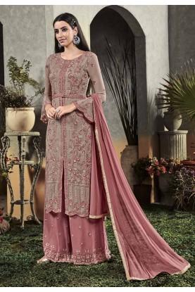 Purple Colour Long Salwar Suit Georgette Fabric.