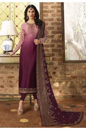 Designer Salwar Suit Magenta,Pink Colour.