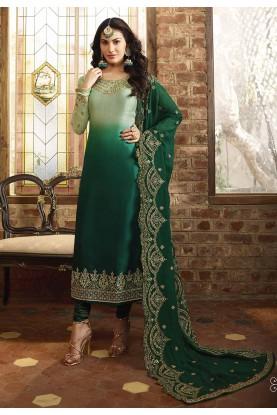 Designer Salwar Suit Green Colour.