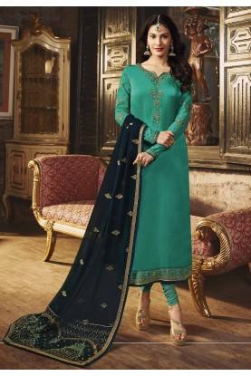 Exclusive Designer Salwar Suit Green Colour.