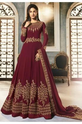 Maroon Colour Indian Wedding Salwar Suit.