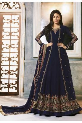 Blue Colour Heavy Designer Salwar Suit.