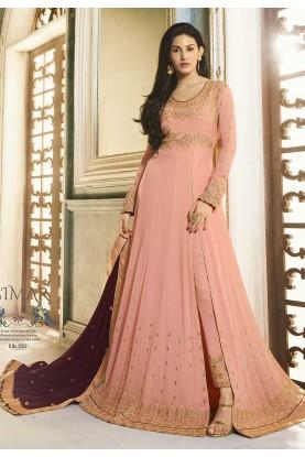 Peach Colour Women Anarkali Salwar Suit.