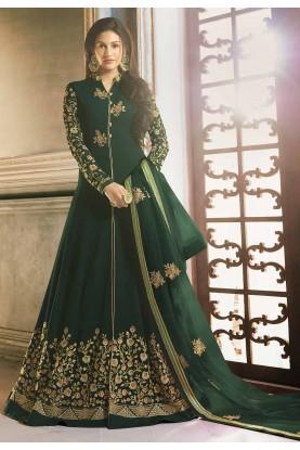 Green Colour Indian Designer Salwar Suit.