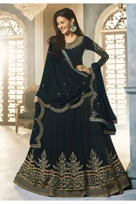 Blue Colour Designer Anarkali Salwar Kameez.