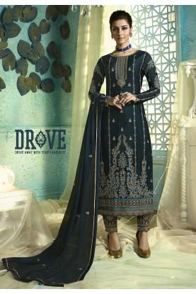 Designer Salwar Suit Blue Colour.