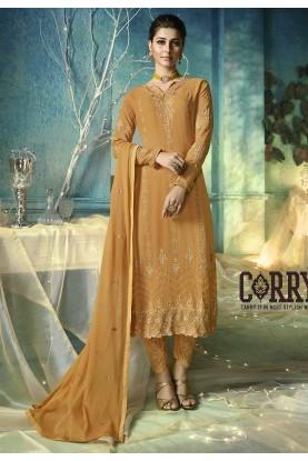 Orange Colour Women's Salwar Suit.