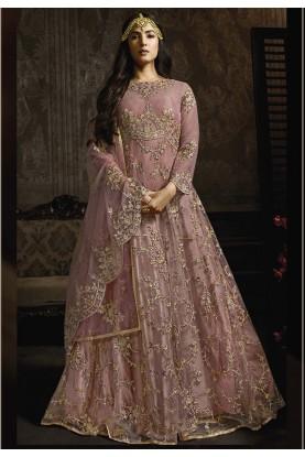 Pink Colour Indian Wedding Salwar Suit.