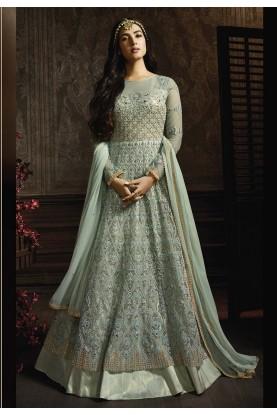 Fabulous Turquoise Colour Salwar Kameez.