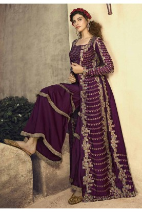 Exclusive Designer Salwar Suit Wine Colour.