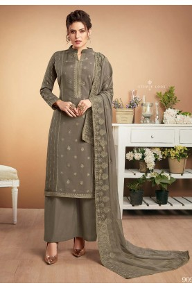 Grey Colour Designer Salwar Suit.