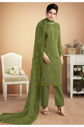 Indian Designer Salwar Suit Green Colour.