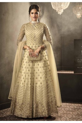 Designer Salwar Suit Golden Colour.
