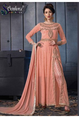 Peach Colour Designer Salwar Kameez.