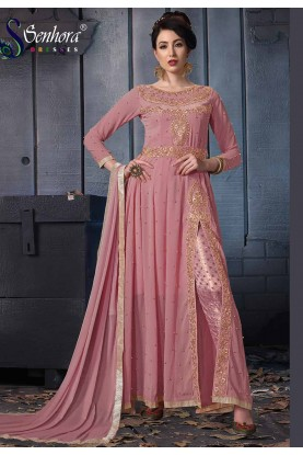 Party Wear Salwar Kameez Purple,Pink Colour.