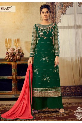 Green Colour Indian Designer Salwar Suit.