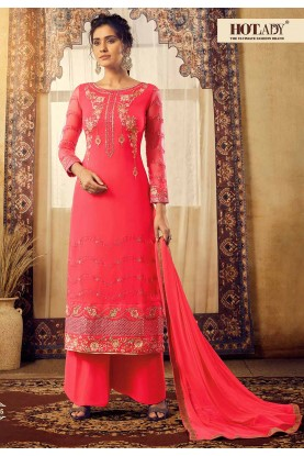 Pink Colour Women's Salwar Suit.