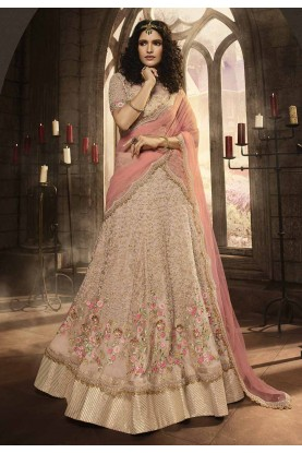 Indian Wedding Lehenga Choli Pink,Peach Colour.