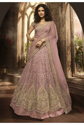 Pink,Purple Colour Party Wear Lehenga Choli.