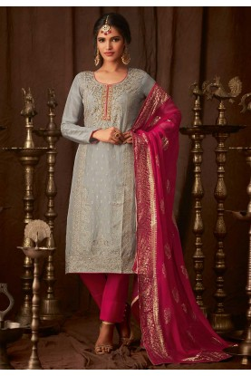 Grey Colour Salwar Kameez