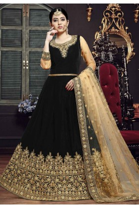 Black Colour Designer Salwar Kameez.